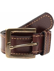 Dents Casual Leather Belt Brown