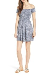 Volcom She's So Daisy Off The Shoulder Dress Navy