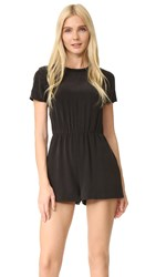 Alice Olivia Air Juli Short Sleeve Romper Black
