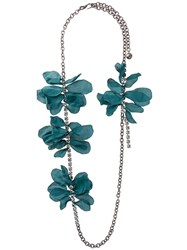 Lanvin 'Gina' Floral Strand Necklace Metallic
