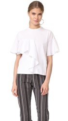 Kendall Kylie Flutter Contrast Tee Bright White
