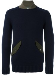 Sacai Two Tone Jumper Blue