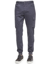 Vince Stretch Twill Cargo Jogger Pants Gray