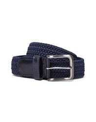 The Idle Man Elastic Weave Belt Navy