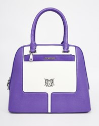 Love Moschino Retro Style Tote Bag Purple