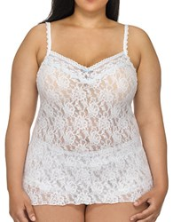 Hanky Panky Plus Annabelle Lace Camisole White