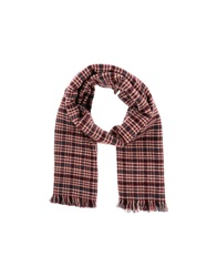Pieces Oblong Scarves Brick Red