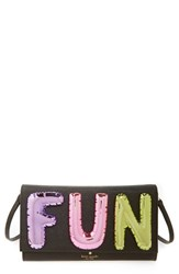 Kate Spade New York Whimsies Fun Balloon Calfskin Leather Clutch