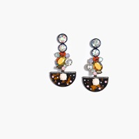 J.Crew Pre Order Crystal Tortoise Chandelier Earrings Multi Color