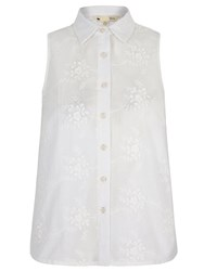 Yumi 3D Embroidered Sleeveless Shirt