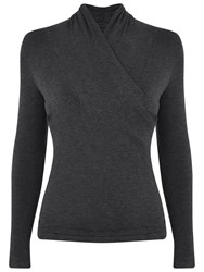 Manuka Solstice Asymmetrical Long Sleeve Yoga T Shirt Black