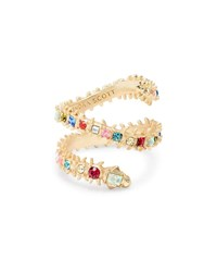 Kendra Scott Beck Snake Coiled Ring W Crystals Multi