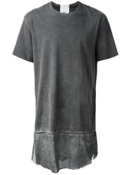 Lost And Found Rooms Raw Edge T Shirt Grey