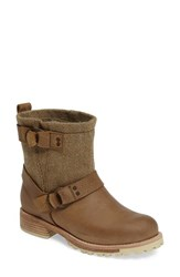 Woolrich Women's 'Baltimore' Engineer Boot Sand Tweed Leather