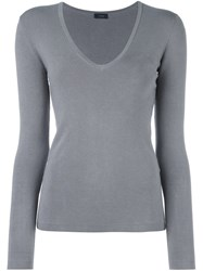 Joseph Scoop Neck Jumper Grey