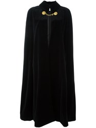 Saint Laurent Long Length Cape Black