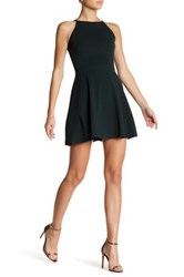 Love Ady Textured Fit And Flare Dress Green