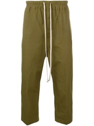Rick Owens Cropped Trousers Green