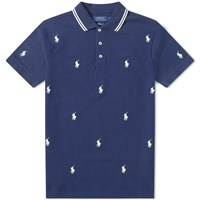 Polo Ralph Lauren All Over Embroidered Blue