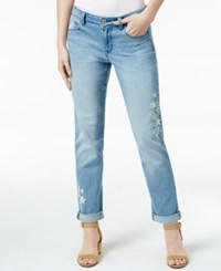 Styleandco. Style Co. Embroidered Keyes Wash Boyfriend Jeans Only At Macy's