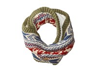 The North Face Chunky Tube Scarf Four Leaf Clover Caldera Red Multi Scarves Green