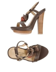 Twin Set Simona Barbieri Sandals Dark Brown