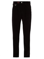 Raf Simons Ring And Logo Patch Corduroy Trousers Black