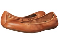 Hush Puppies Chaste Ballet Cognac Leather Women's Flat Shoes Brown