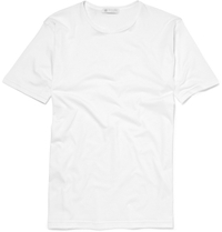 Sunspel Crew Neck Cotton T Shirt White