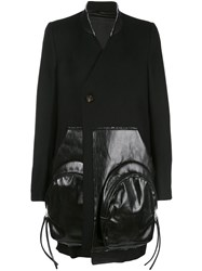 Rick Owens Faux Leather Panelled Coat 60
