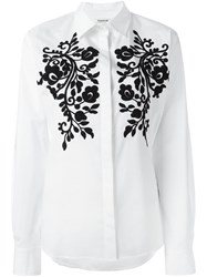 P.A.R.O.S.H. Flower Patched Shirt White
