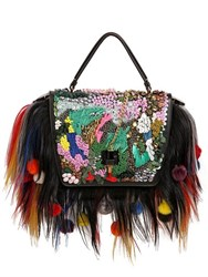 Giancarlo Petriglia Queen Fur And Embellished Leather Bag