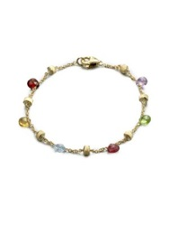 Marco Bicego Paradise Semi Precious Multi Stone And 18K Yellow Gold Station Bracelet Gold Multi