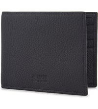 Armani Collezioni Grained Leather Billfold Wallet Navy