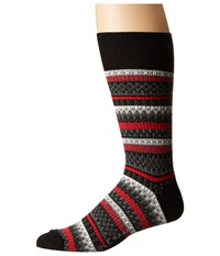 Cole Haan Fair Isle Crew Black Men's Crew Cut Socks Shoes