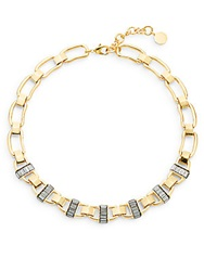 Louise Et Cie Baguette Chain Link Necklace