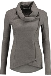 Helmut Lang Draped Wool Cardigan Gray