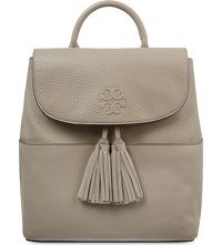 Tory Burch Thea Leather Backpack French Gray