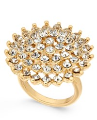 Inc International Concepts Gold Tone Pave Flower Ring Created For Macy's