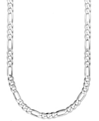 Macy's Men's Sterling Silver Necklace 24' 8Mm Figaro Chain