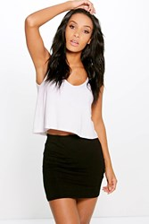 Boohoo Basic Bodycon Mini Skirt Black