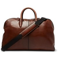 Berluti Burnished Leather Holdall Brown
