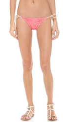 Eberjey Boho Beautiful Eva Bikini Bottoms Sunset Glow