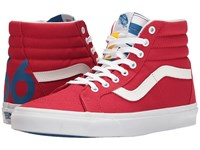 Vans Sk8 Hi Reissue 1966 Red Blue True White Skate Shoes 1966 Red Blue True White
