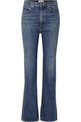 Agolde Organic High Rise Flared Jeans Blue