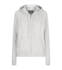 Juicy Couture Swarovski Embellished Cashmere Hoodie Female Grey