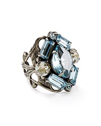Sorrelli Swarovski Crystal Cluster Cocktail Ring 100 Bloomingdale's Exclusive Pebble Blue
