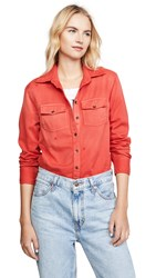 Sundry Classic Button Up Sunfaded Coral