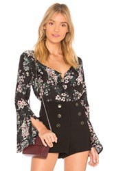 Cupcakes And Cashmere Nadette Blouse Black
