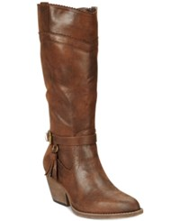 Xoxo Izzy Western Boots Women's Shoes Brown